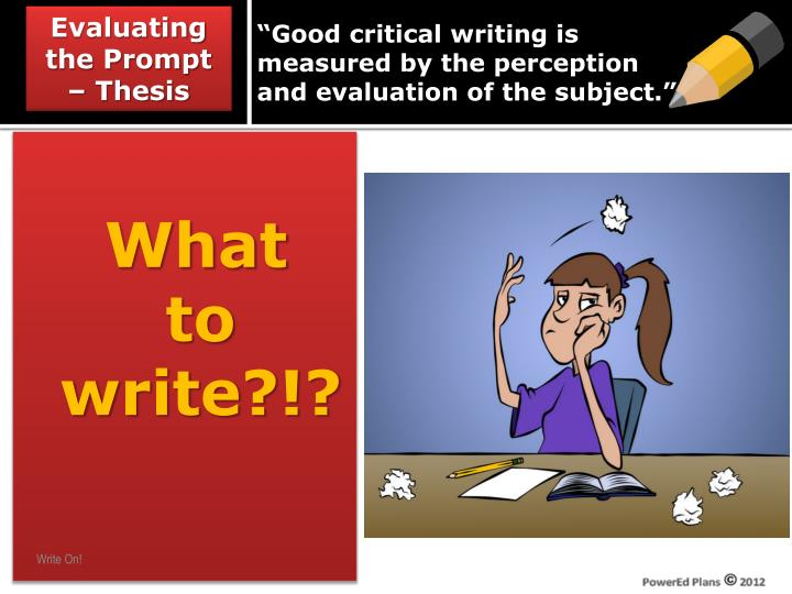 powerpoint on the concepts of perception and critical thinking