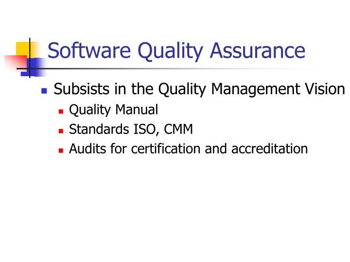 PPT - Software Quality Management Quality Assurance, Quality Control ...