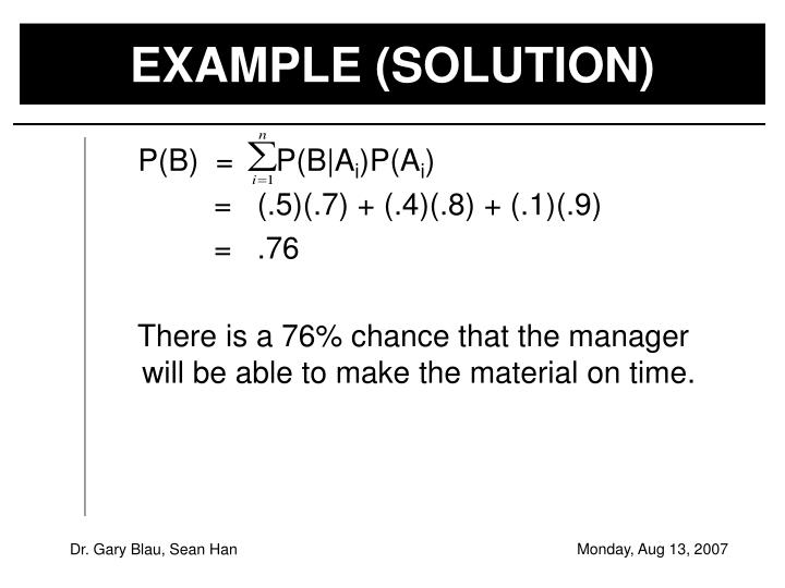 EXAMPLE (SOLUTION)