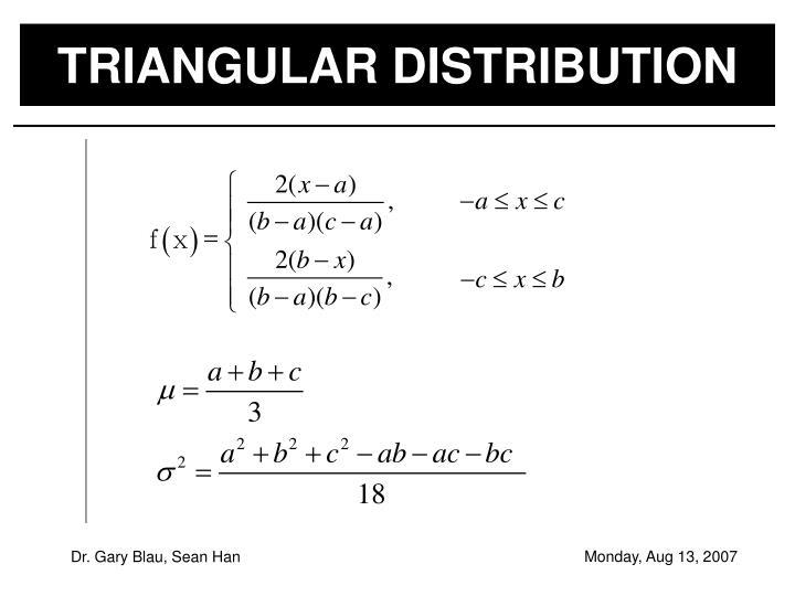 TRIANGULAR DISTRIBUTION