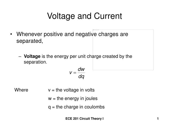 voltage and current n.