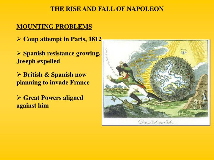the rise and fall of napoleon Napoleon empire fall from power congress of vienna.