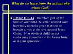what do we learn from the actions of a triune god13