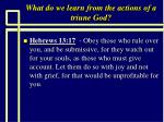 what do we learn from the actions of a triune god5