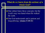 what do we learn from the actions of a triune god7