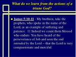 what do we learn from the actions of a triune god8