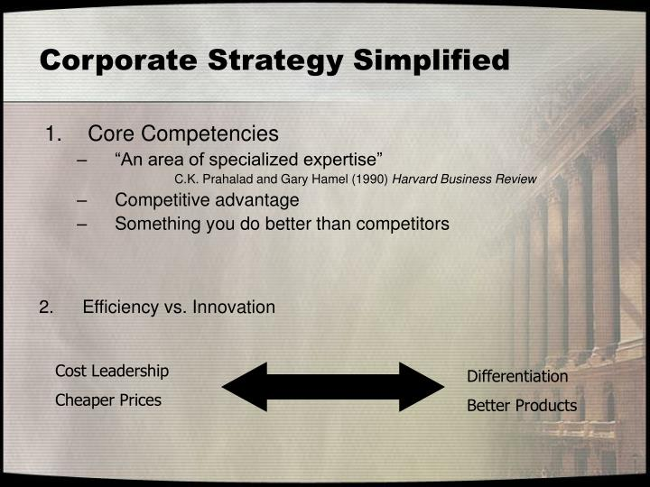 niche cost leader competencies and advantage Capsim strategies essay sample broad cost leader  the company will gain a competitive advantage by keeping r&d,  between 15 and 20 123 niche cost leader.