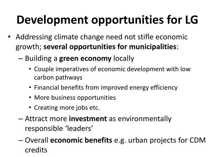 Development opportunities for LG