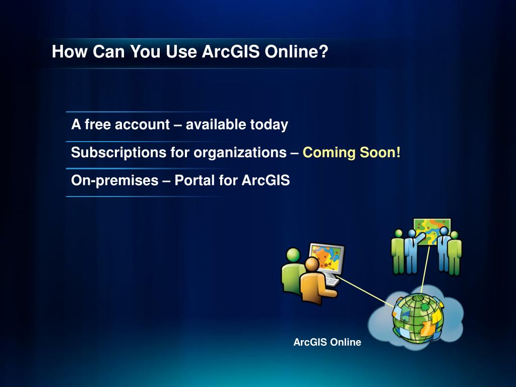 PPT - ArcGIS Online – The Road Ahead PowerPoint Presentation - ID