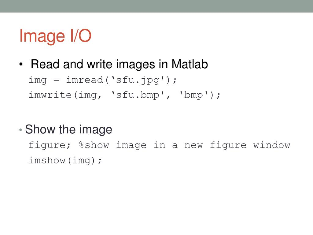 PPT - Tutorial on Matlab and OpenCV PowerPoint Presentation - ID:3092106
