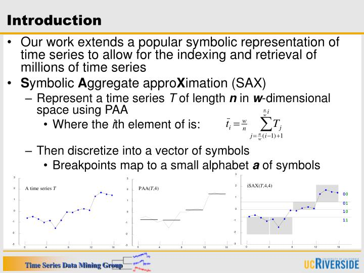 Ppt I Sax Indexing And Mining Terabyte Sized Time Series