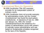 constitutional basis for separation