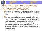 jurisdiction of tribunal de grande instance