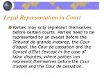 legal representation in court