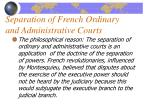separation of french ordinary and administrative courts1