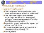 tribunal de commerce commercial court
