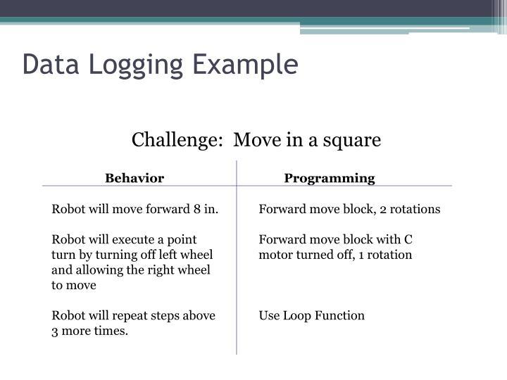 Data Logging Example