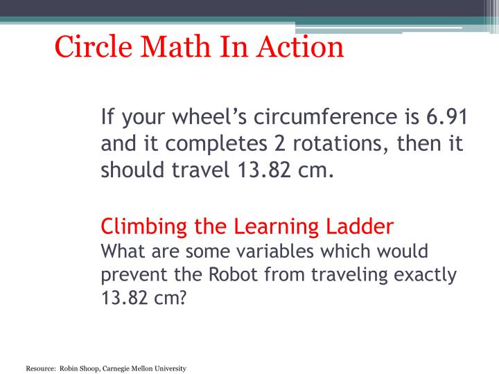 Circle Math In Action