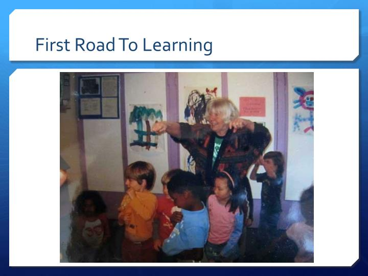 first road to learning n.