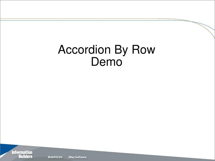 Accordion By Row