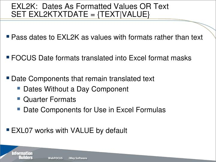 EXL2K:  Dates As Formatted Values OR Text