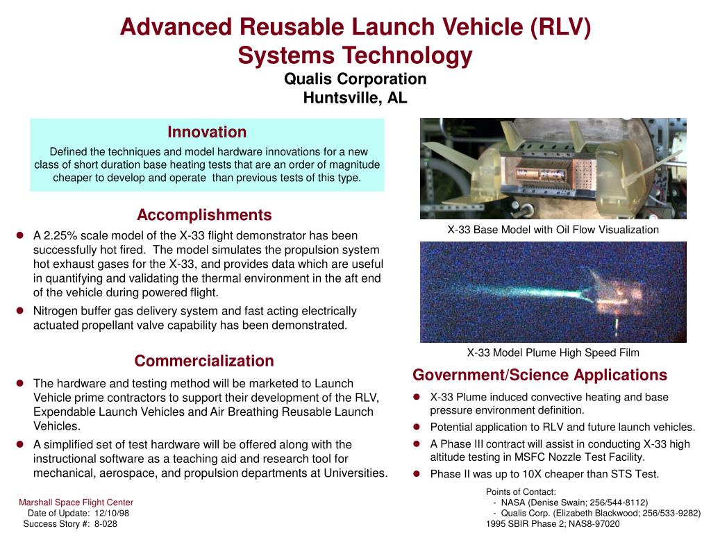 Ppt Advanced Reusable Launch Vehicle Rlv Systems Technology