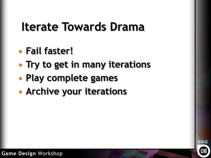 Iterate Towards Drama
