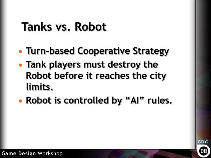 Tanks vs robot
