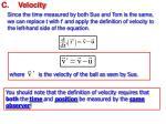 c velocity1