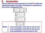 d acceleration