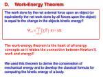 d work energy theorem