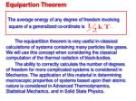 equipartion theorem