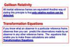galilean relativity