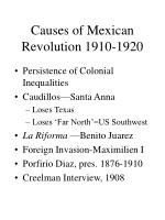causes of mexican revolution 1910 1920