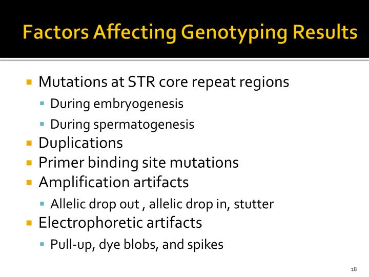Factors Affecting Genotyping Results