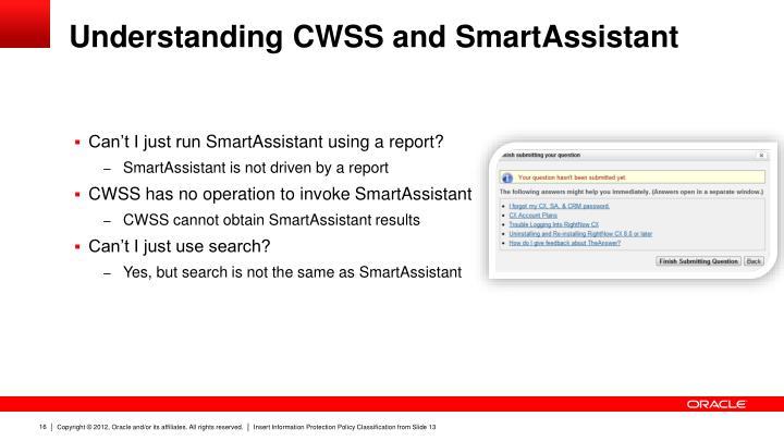 Understanding CWSS and