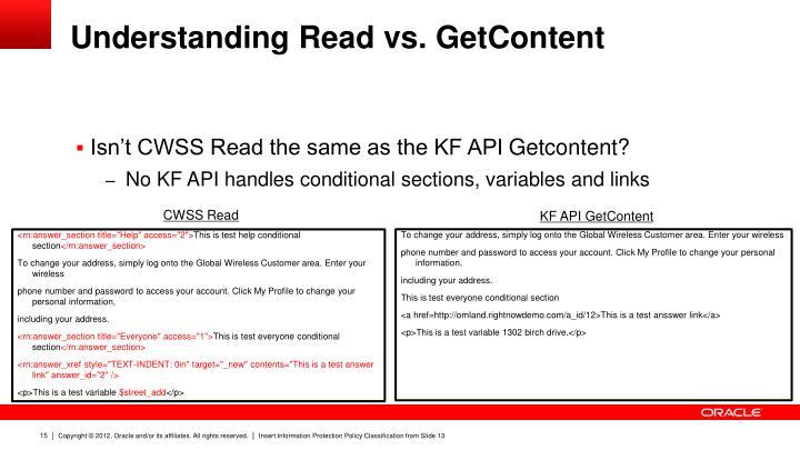 Understanding Read vs.