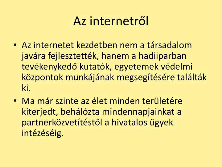 Az internetr l