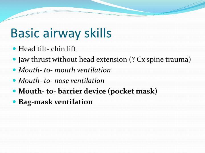 Basic airway skills