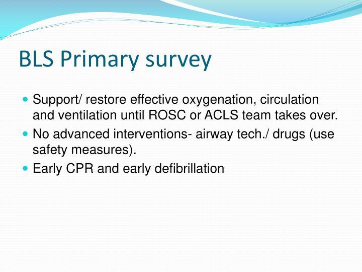 BLS Primary survey
