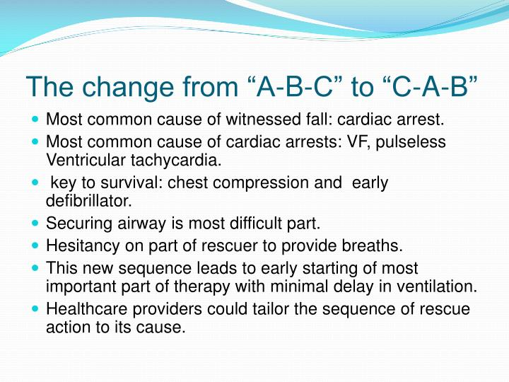 """The change from """"A-B-C"""" to """"C-A-B"""""""