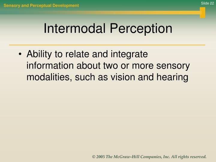 Sensory and Perceptual Development