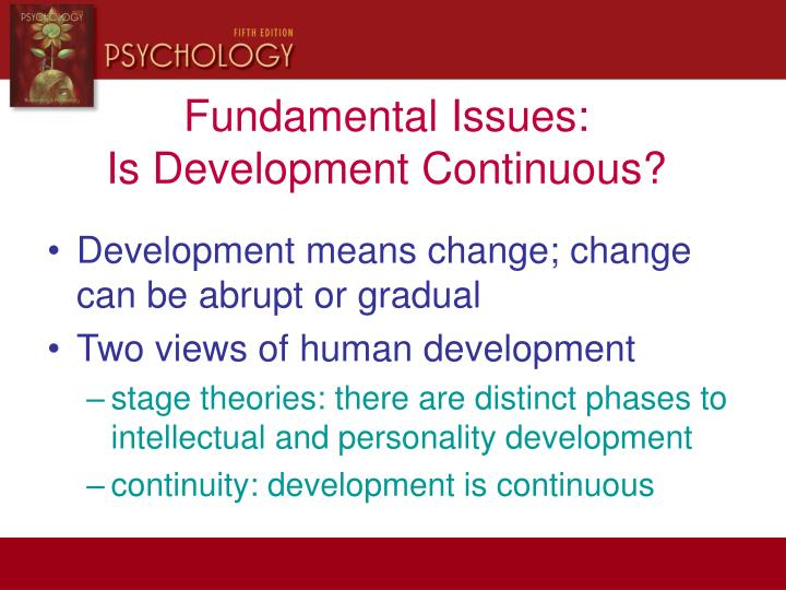 what is continuous development in psychology