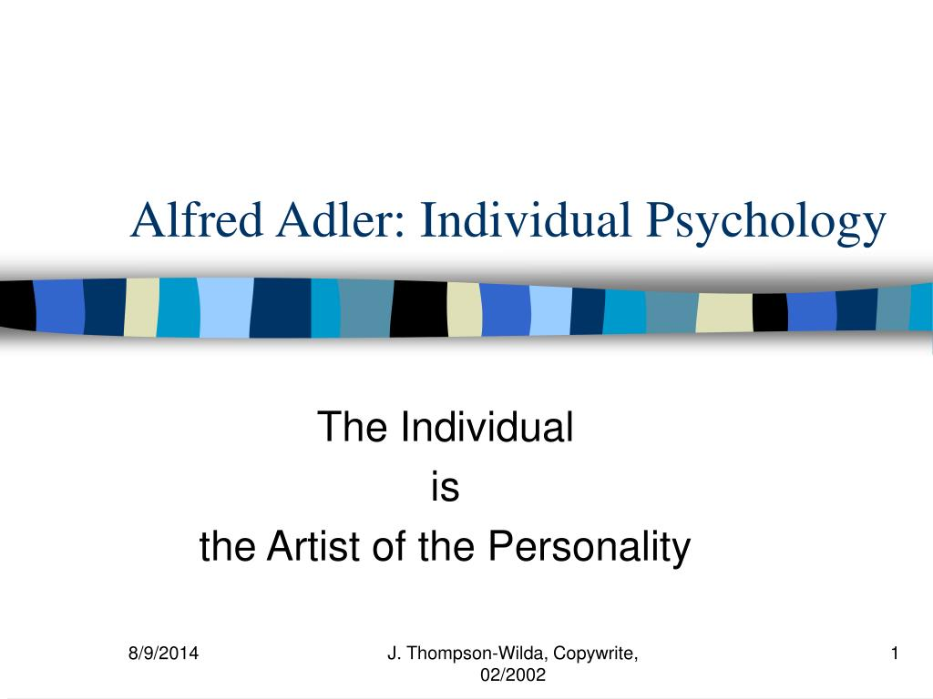 alfred adler and individual psychology