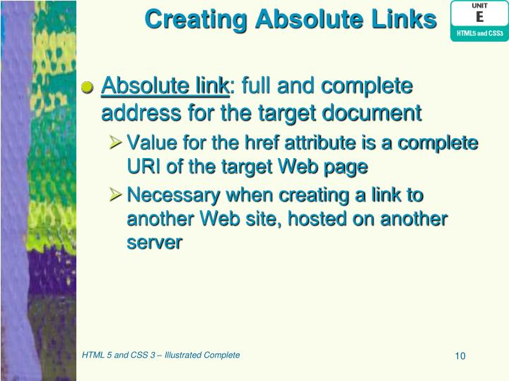 Creating Absolute Links