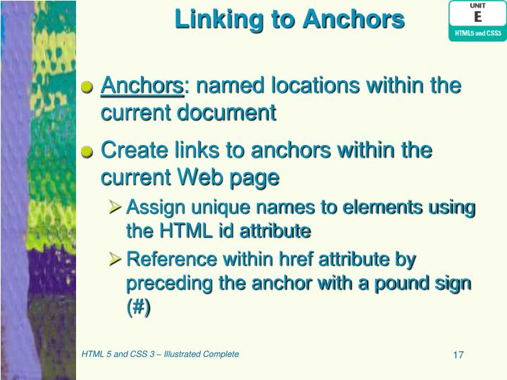 Linking to Anchors
