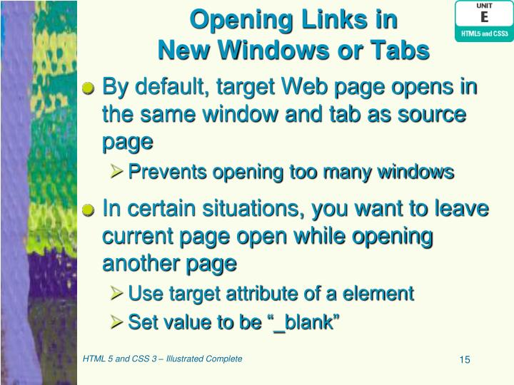 Opening Links in