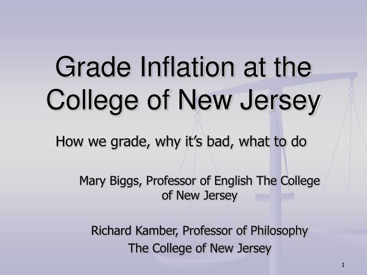 grade inflation at the college of new jersey n.