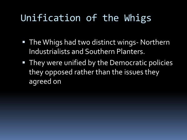 Unification of the Whigs