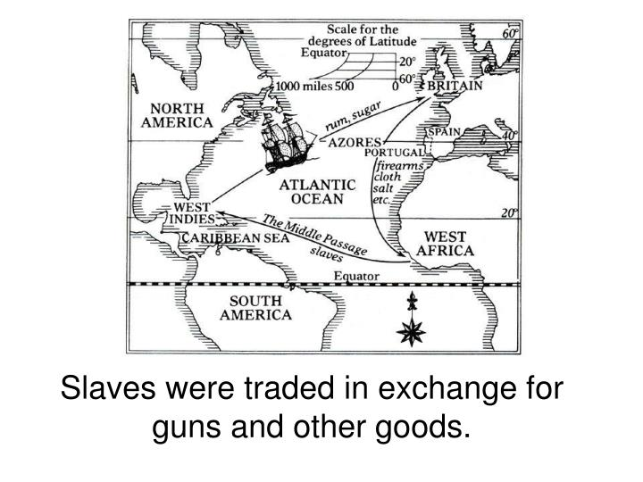 Slaves were traded in exchange for